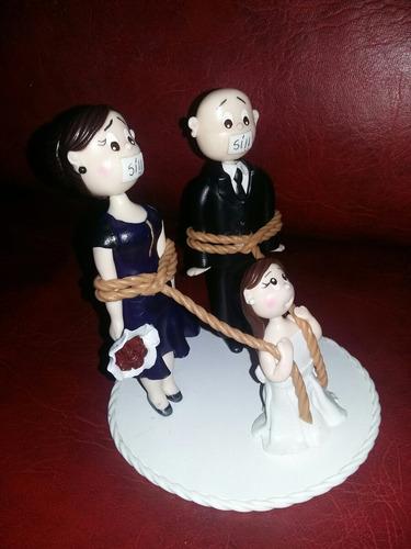 adorno torta de bodas en porcelana  fría únicos!
