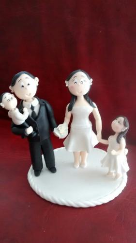 adorno torta de bodas porcelana fria, unicos!