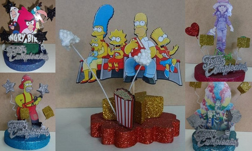 adorno torta fibrofacil mickey, candy crush, violetta,cars
