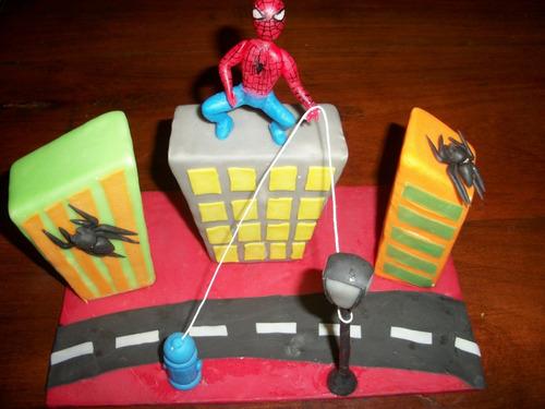 adorno torta hombre araña
