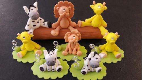 adorno torta infantil animalitos selva