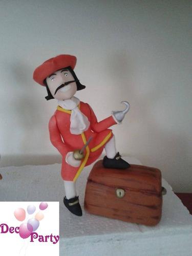 adorno torta o souvenirs en porcelana fría. peter pan