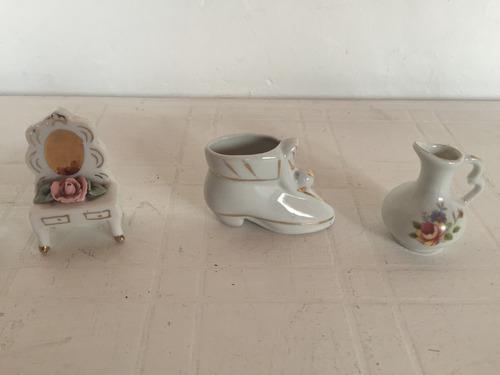 adornos antiguos  de ceramica y de vidrio chiquitos