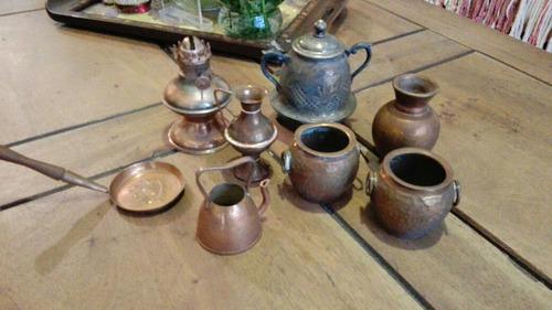 adornos de bronce set de 8 piezas