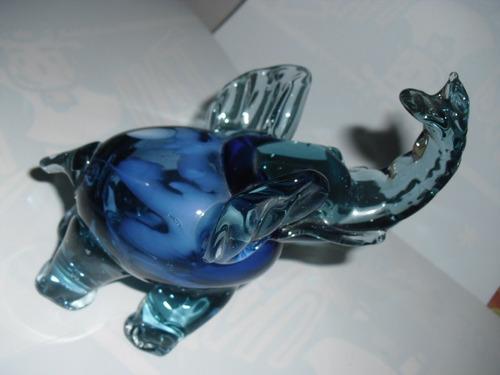 adornos de cristal arte murano delfin y elefante como nuevos