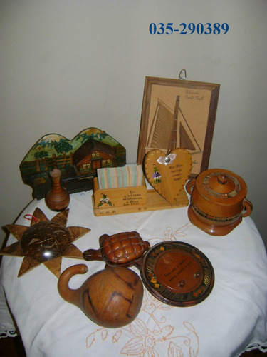 adornos de madera antiguos