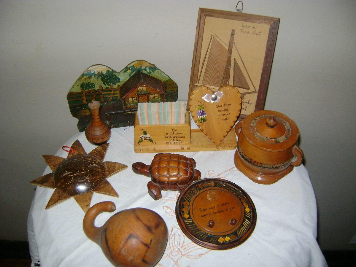 adornos de madera antiguos en mercado libre