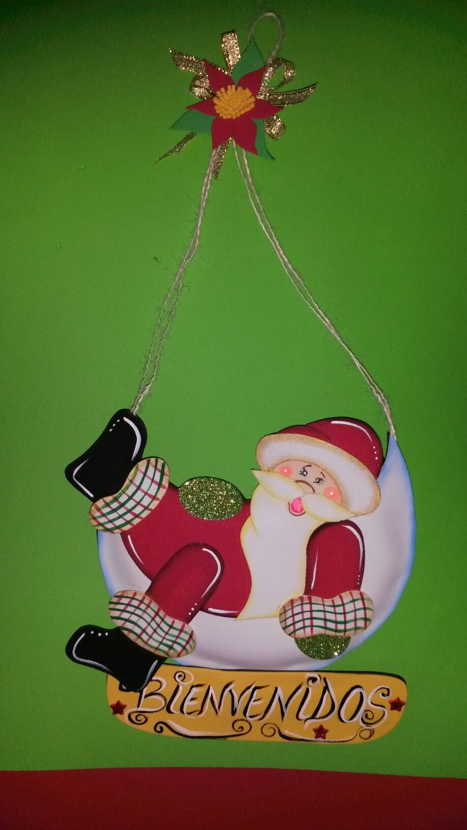 adornos de navidad en foami cesta  arbolito santa con