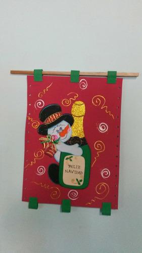 adornos de navidad en foami pendones cesticas  decora