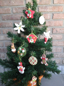 Como Decorar Una Carniceria En Navidad.Porcelana Fria Miniatura Carniceria Con Verduleria Adorno