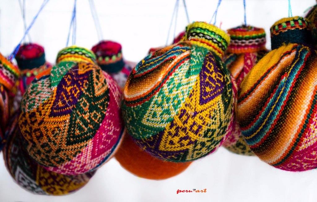 adornos de navidad para arbol docena telar artesania