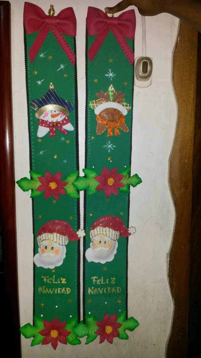 Adornos para la puerta de navidad caliente pared de la - Adorno puerta navidad ...