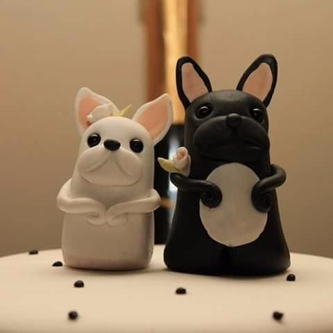 adornos de torta porcelana fria granja