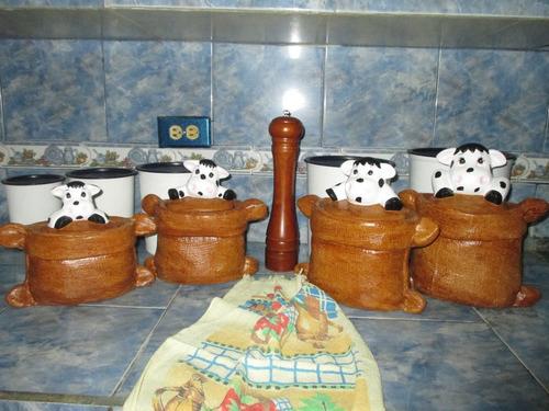 adornos en cerámica (al frío) para la cocina