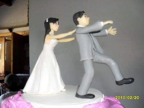 adornos en porcelana fria novios bodas