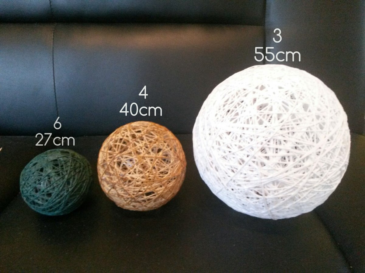 Adornos esferas bolas de hilo decoracion centro mesa combo - Bolas de decoracion ...