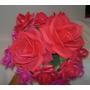 Flores Rosas Crisantemos Girasol En Foami Tamaño Medianas