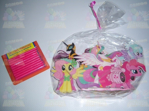 adornos mantel vela pastel fiesta my little mi pequeño pony