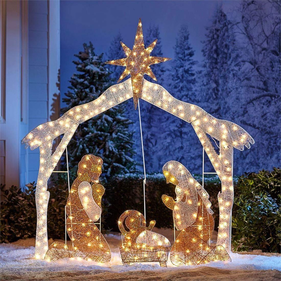 4a5ead3b8f0 adornos navidad nacimiento grande iluminado decoracion exter. Cargando zoom.