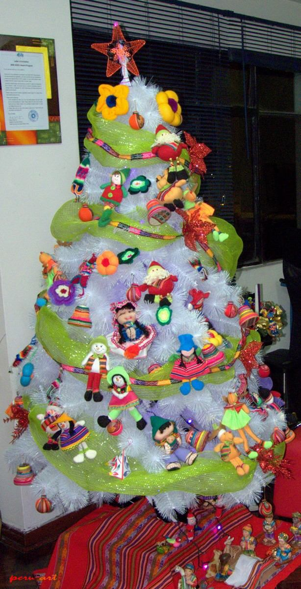 Adornos navidad para arbol cholitas artesania regalos - Arbol navidad adornos ...