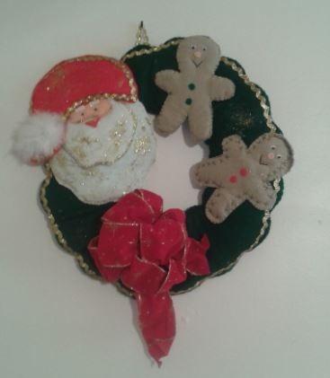 adornos navideñas en fieltro