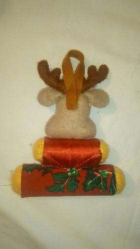 adornos navideño muñeco fieltro y tela  reno