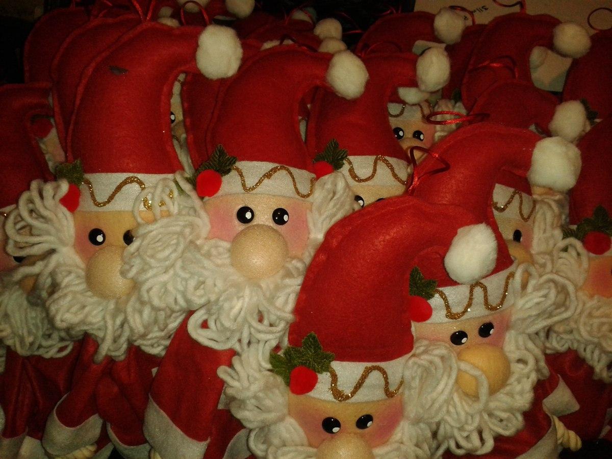 Adornos navide os 2 santas claus para puertas o guias for Arreglo para puertas de navidad