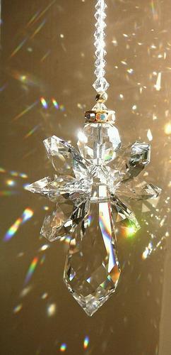 adornos navideños angelitos de caireles
