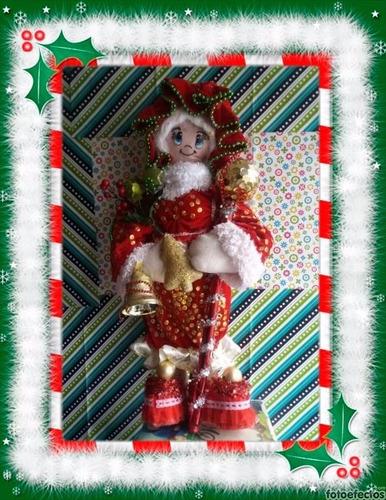 (adornos navideños) bella mama noel gigante