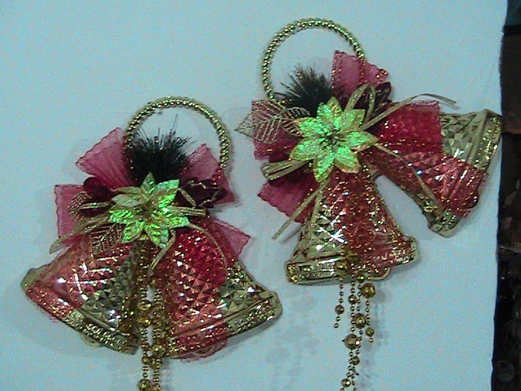 adornos navideos campanas para las puertas oferta cargando zoom