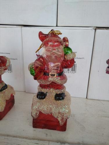 adornos navideños con luz de resina