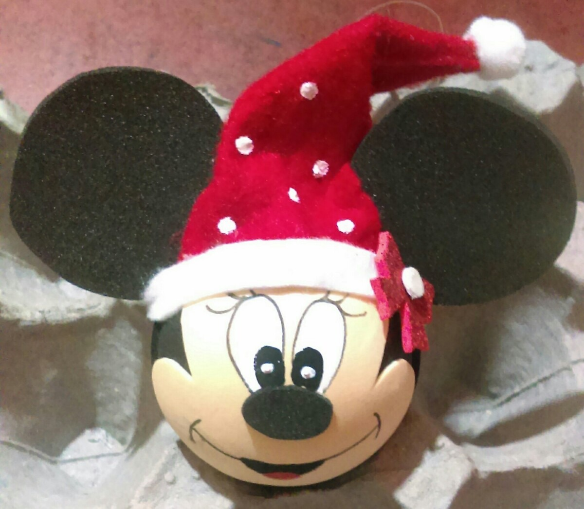 Adornos navide os esferas mickey mouse y mimi en for Adornos navidenos mickey mouse