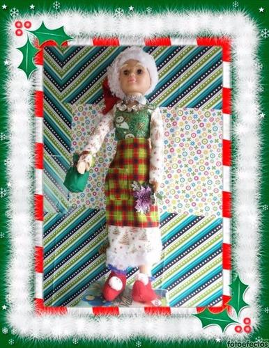 (adornos navideños) gran muñeca navideña