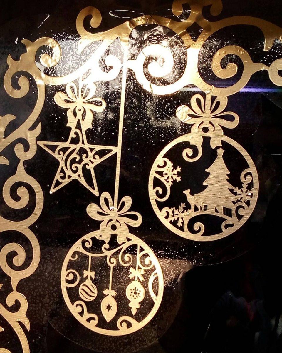 Adornos navide os para critales o espejos en for Adornos navidenos mercadolibre