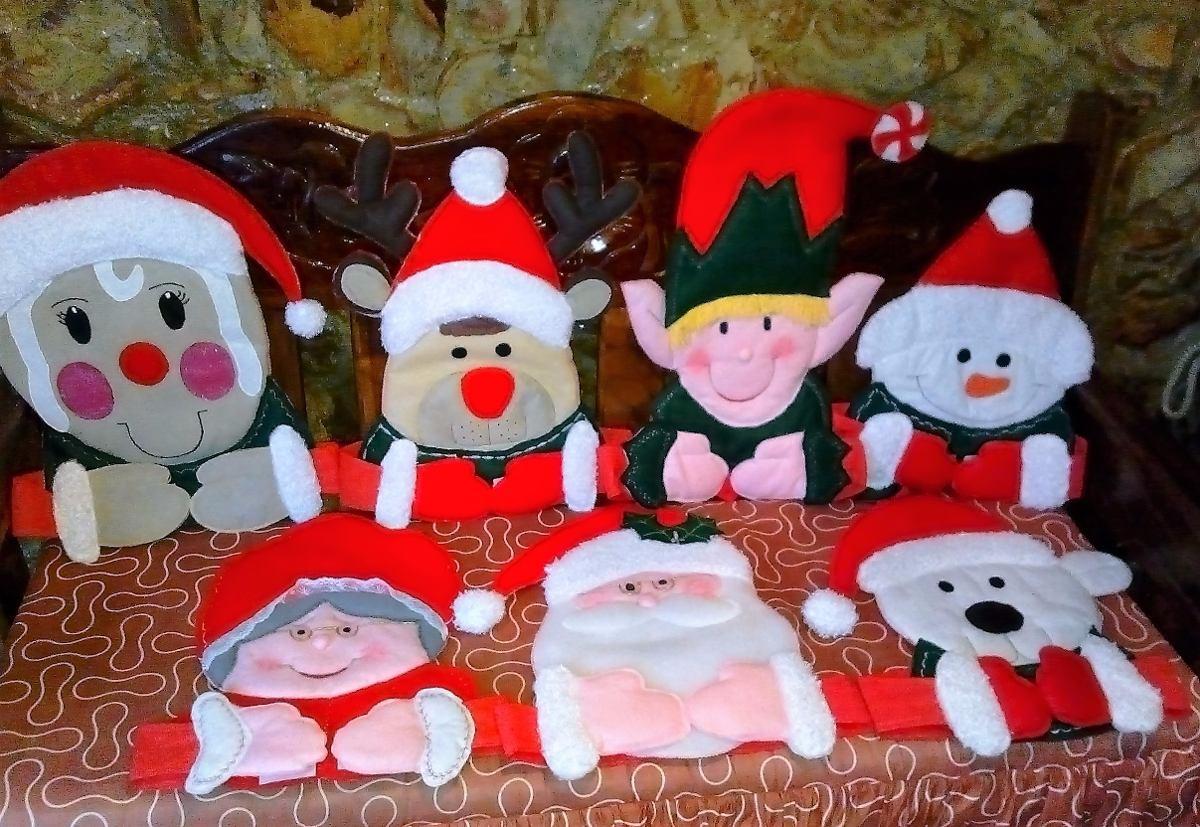 Adornos navide os para sillas 8 modelos diferentes bs - Adornos navidenos para sillas ...