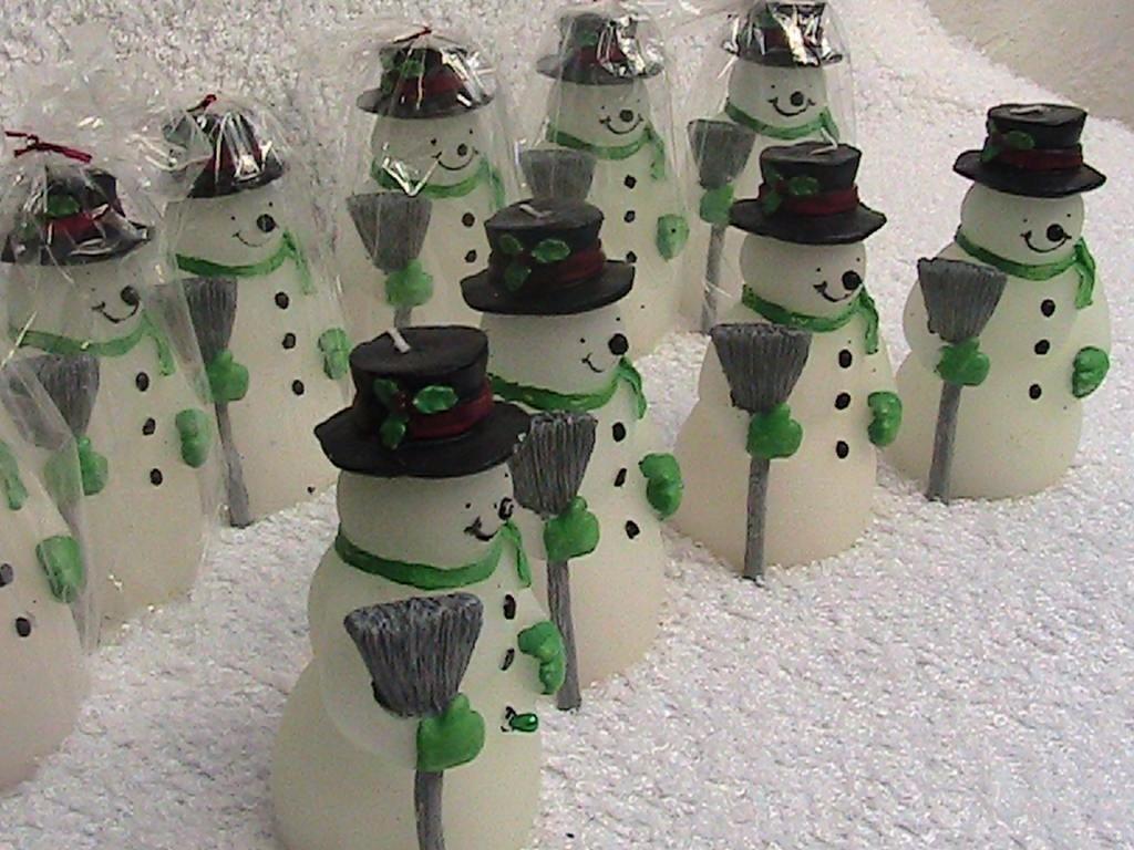 adornos navideos velas navideas muecos de nieve