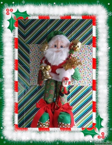 (adornos navideños)hermoso papa noel gigante