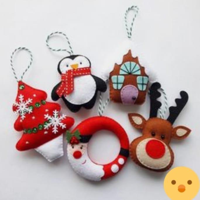 Adornos para el rbol de navidad decoraci n navide a 5pzs for Adornos navidenos para el arbol