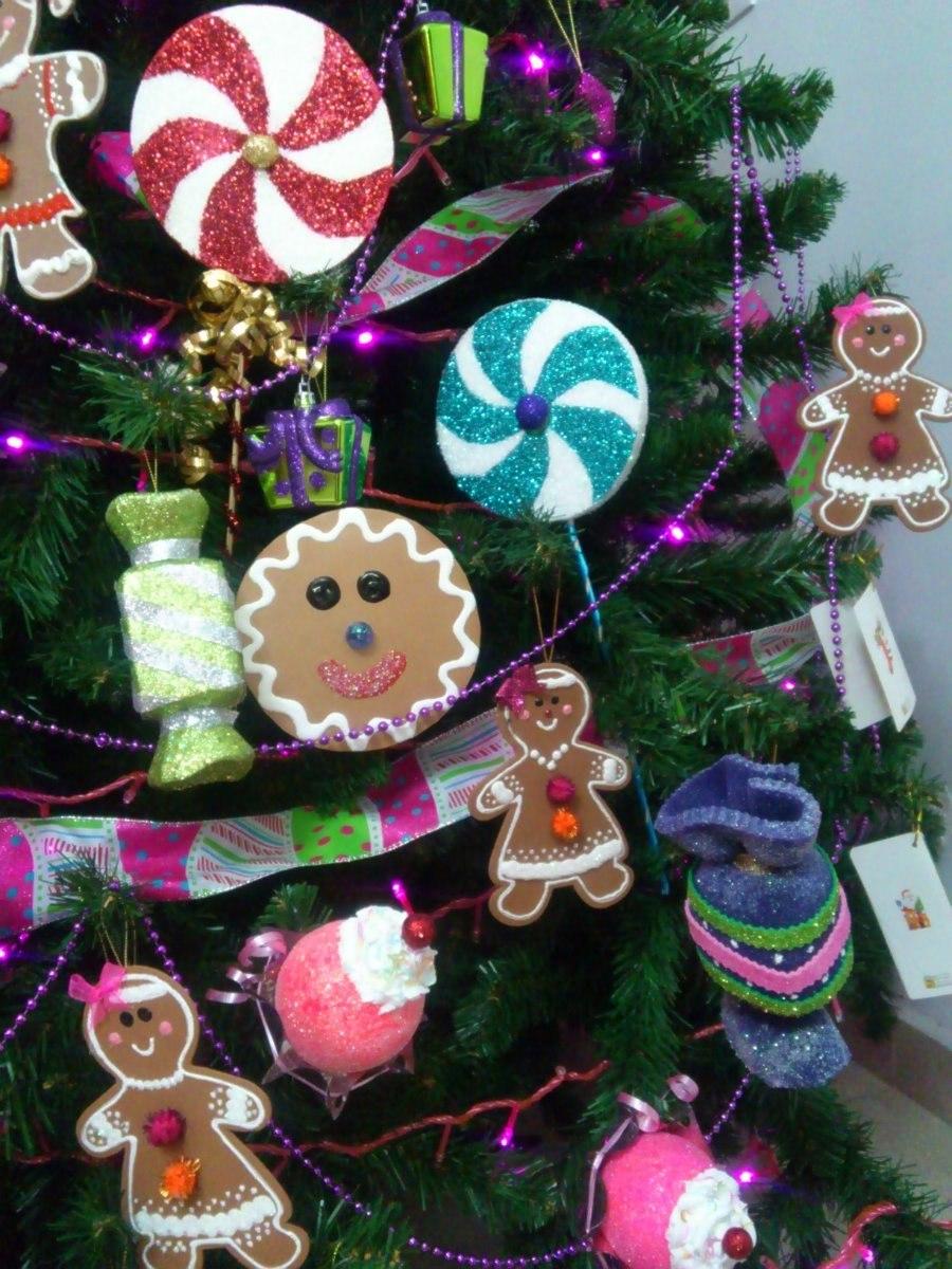 Adornos navide os de dulces para arbol d navidad dulce - Adornos de pared de forja ...