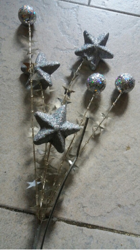 adornos plateados para arbol navidad