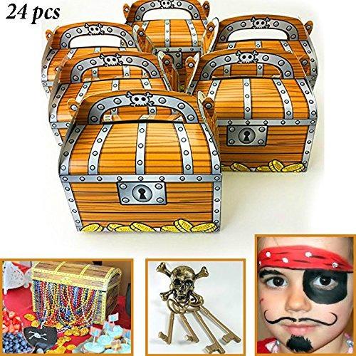 adorox pirata cofre del tesoro decoración fiesta favor good
