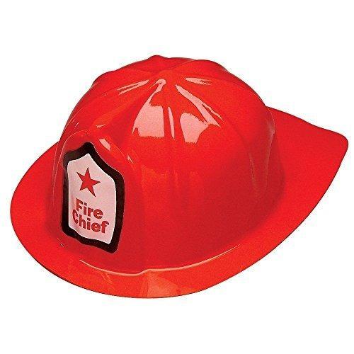 adorox rojo bombero jefe de plástico blando de la fiesta de