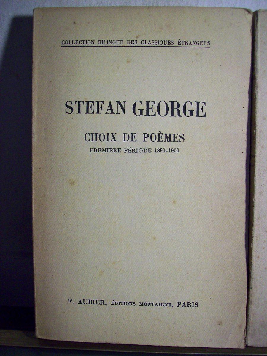 Adp Choix De Poemes 2 Vol 1890 1900 1900 1933 George 95000