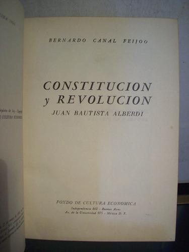 adp constitucion y revolucion juan b. alberdi canal feijoo