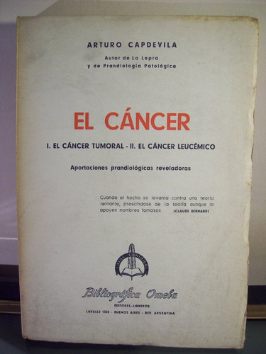 adp el cancer arturo capdevila / ed omeba 1961 bs. as.