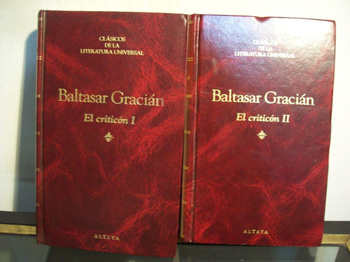 adp el criticon ( 2 tomos ) baltasar gracian / ed altaya