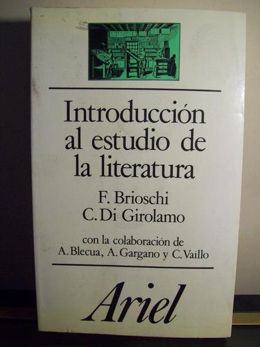 adp introduccion al estudio de la literatura brioschi