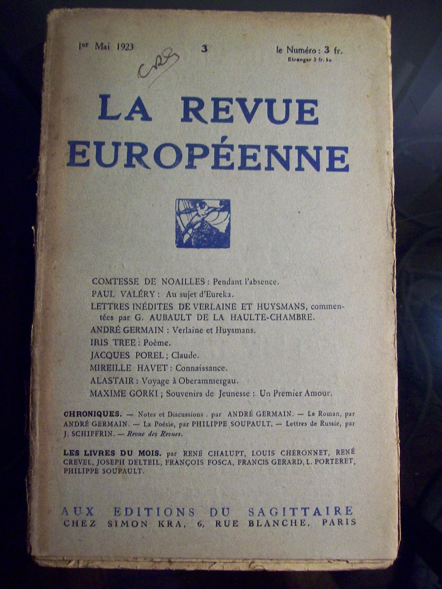 Adp La Revue Europeenne N 1 2 3 4 7 8 10 11 Y 35 650000