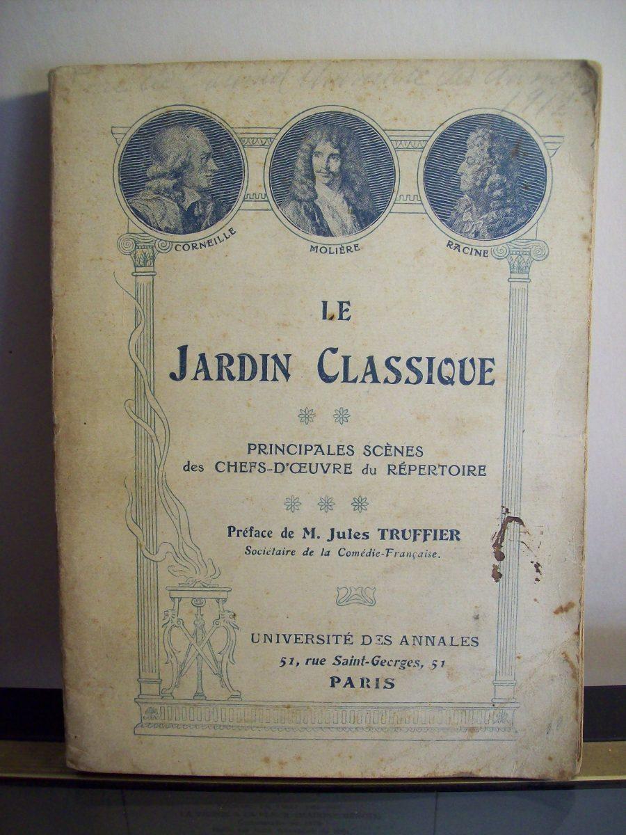 Jardin Classique À La Française adp le jardin classique ( preface de jules truffier ) 1912 - $ 240,00