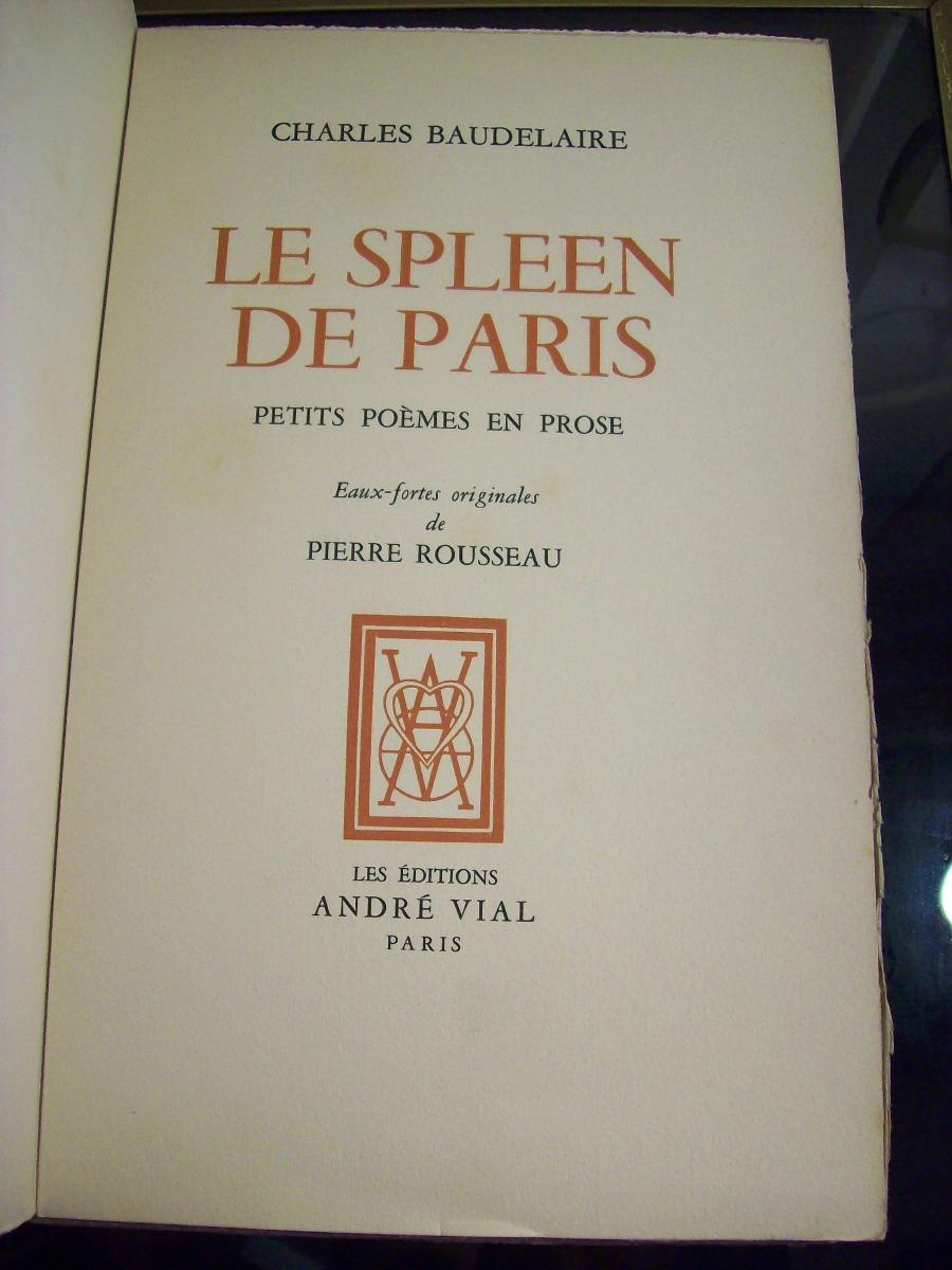 Adp Le Spleen De Paris Petits Poemes En Prose C Baudelaire